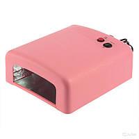 УФ лампа для наращивания ногтей Global 36w розовая