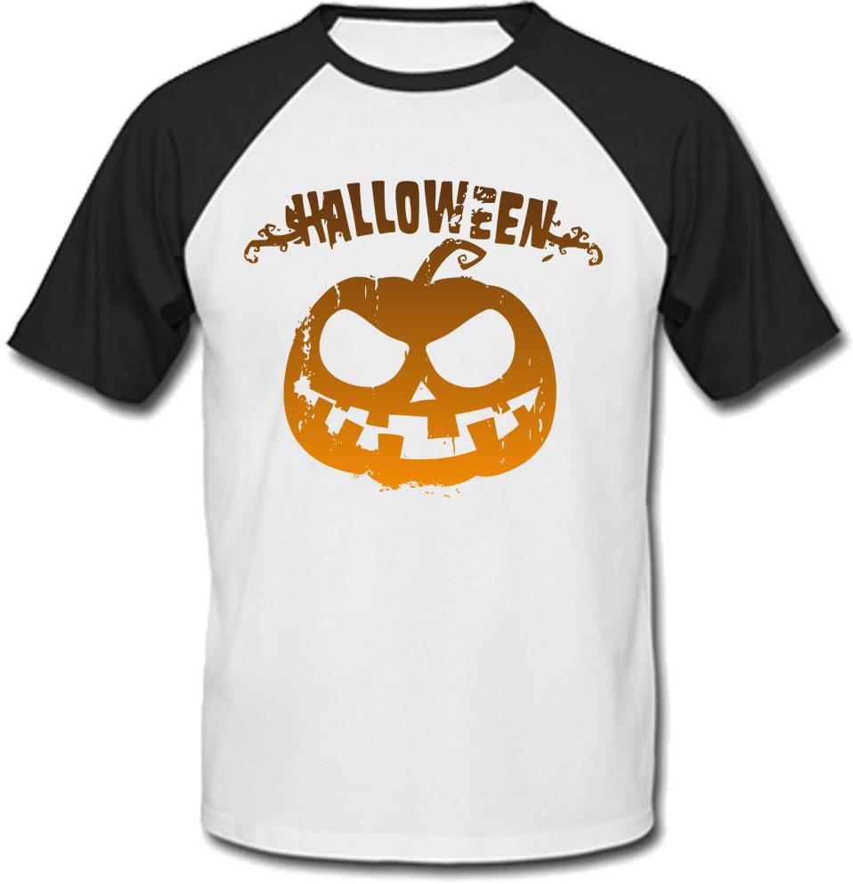 Футболка Halloween (белая с чёрными рукавами)