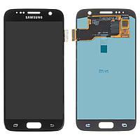 Дисплейный модуль (дисплей и сенсор) для Samsung G930 Galaxy S7, черный, (OLED)