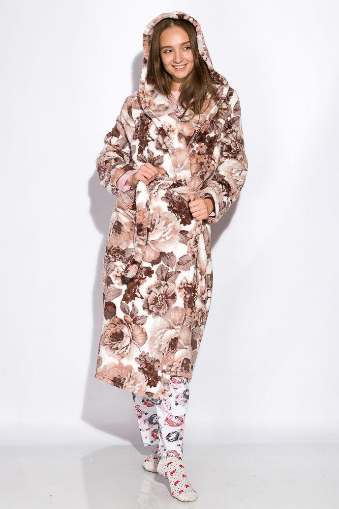 Халат женский бежево-коричневый XL, XXL