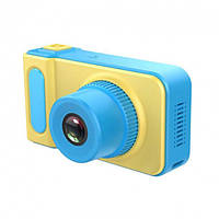 🔝 Детский цифровой фотоаппарат Summer Vacation Cam 3 mp фотоаппарат для ребенка, Жёлто-голубой   🎁%🚚