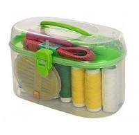 Швейний набір в коробці (нитки кольорові 18шт./голки пласт.уп./сантиметр/ножнички) ХІТ