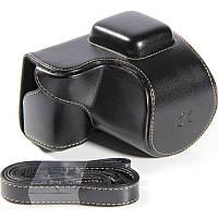 Защитный футляр - чехол для фотоаппаратов SONY NEX-5, NEX-5C, NEX-5T, NEX-5R, A5000 - черный