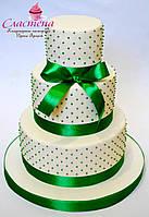 Свадебный торт в зелёном цвете