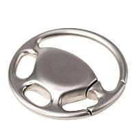 Брелок металлический в форме автомобильного руля.
