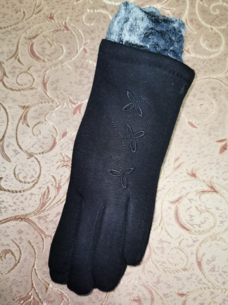 ТРИКОТАЖ с махра Angel женские перчатки стильная только оптом