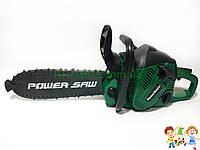 Детская игрушечная бензопила Power Saw на батарейках со ЗВУКОМ 192E1  (Green / зеленый)