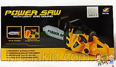 Детская игрушечная бензопила Power Saw на батарейках со ЗВУКОМ 192E1  (Green / зеленый), фото 3