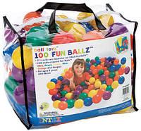 Детские шарики, мячики для бассейна 100шт для сухого бассейна интекс Intex: диаметр 8см