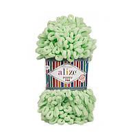 Пряжа для вязания руками (100%-микрополиэстер, 100г/14м) Alize PUFFY FINE 516 (салатовый)