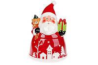 Банка для сладостей фигурная Санта с подарками, 1.5л