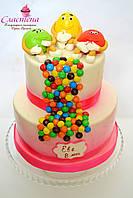 """Детский торт для девочки """"M&M's"""" (кремовый)"""