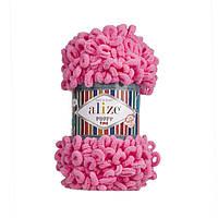 Пряжа для вязания руками (100%-микрополиэстер, 100г/14м) Alize PUFFY FINE 121 (ярко-розовый)