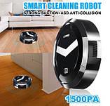 Робот пилосос XIMEI Smart Robot Black розумний, фото 3