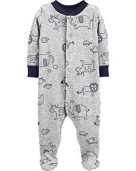 Человечек хлопковый Carters для новорожденного мальчика 46-55 см