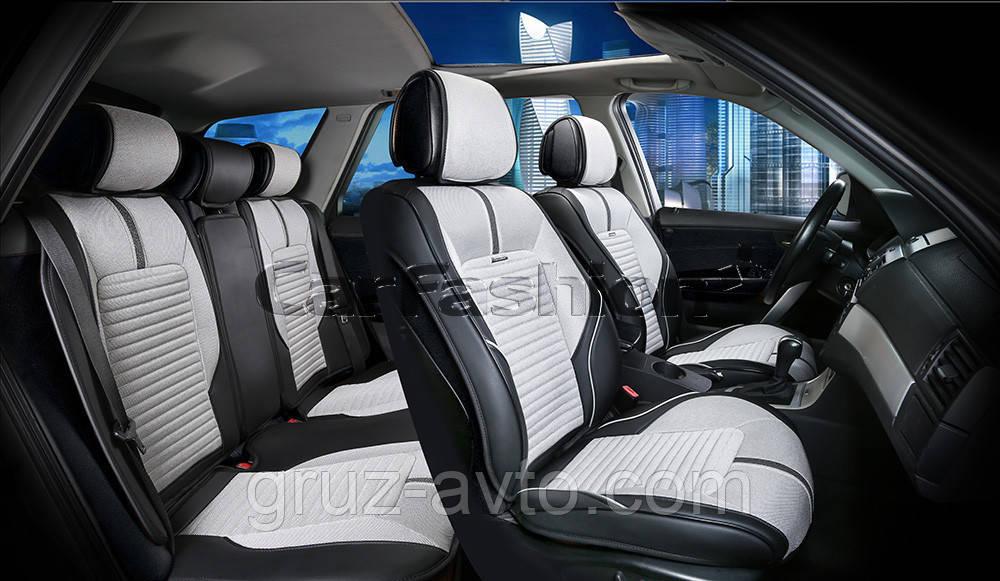 Накидки на сидения CarFashion FULL 3D Мoдель: SECTOR черный, серый, черный      (22273)