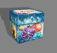 Картонная упаковка для конфет, Кубик, Серебро, 11,5х11,5х11,5 см