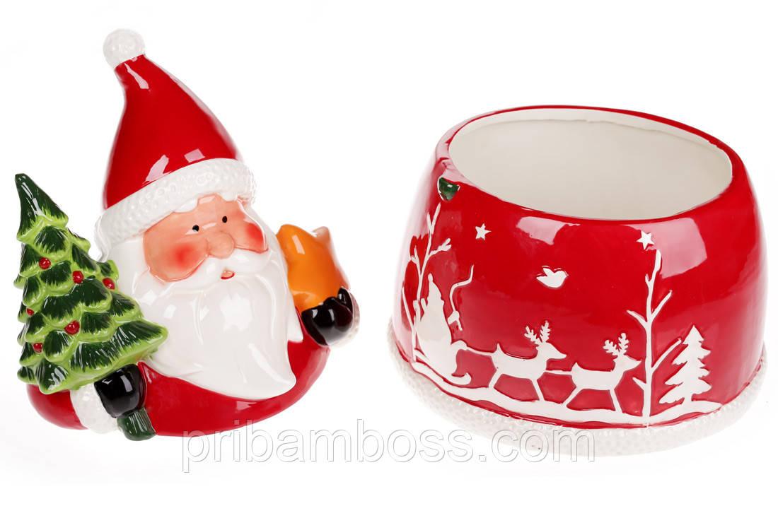 Банка для сладостей фигурная Санта с подарками, 3л