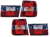 Фонари задние для BMW 5 E34 седан '88-97 комплект (DEPO) внешние и внутренние, бело-красные