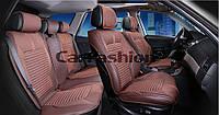 Накидки на сидения CarFashion FULL 3D Мoдель: SECTOR коричневый, коричневый, коричневый           (22276), фото 1