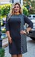 Платье женское модное стильный горох размер 52-58 купить оптом со склада 7км Одесса, фото 6