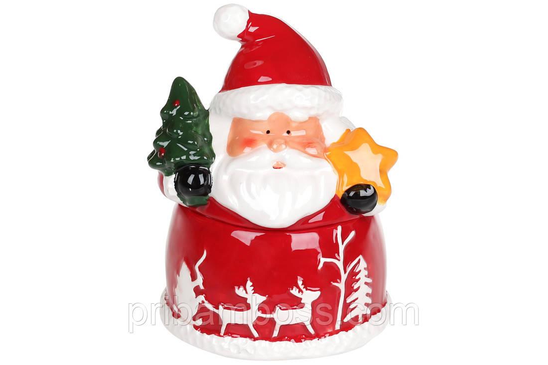 Сахарница керамическая фигурная Санта с подарками, 260мл
