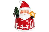 Сахарница керамическая фигурная Санта с подарками, 260мл, фото 1