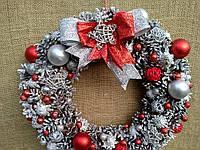 Новорічний декор-вінок на двері, фото 1