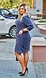 Платье женское модное стильный горох размер 52-58 купить оптом со склада 7км Одесса, фото 2