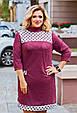 Платье женское модное стильный горох размер 52-58 купить оптом со склада 7км Одесса, фото 7