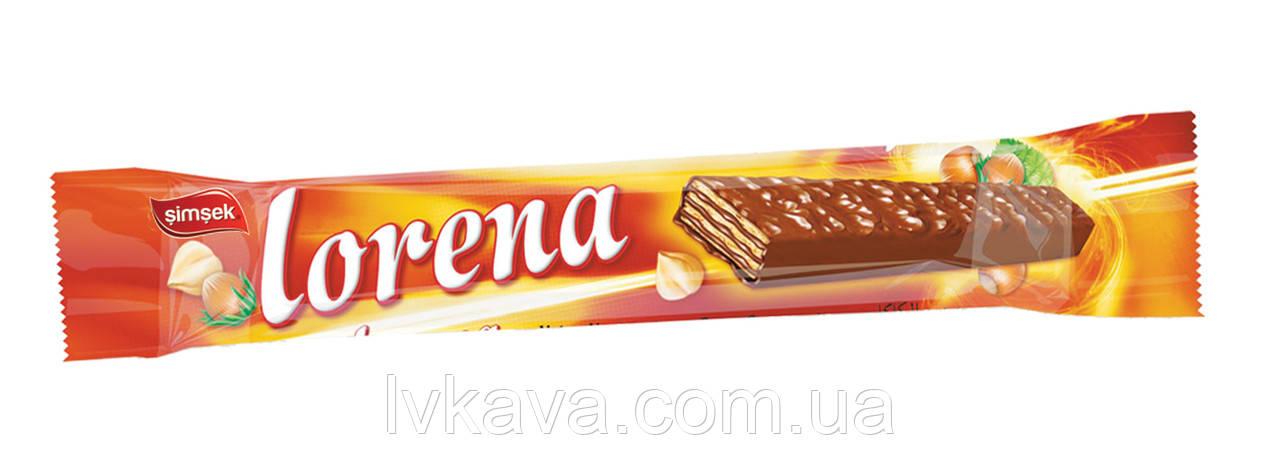 Шоколадные вафли Lorena Simsek с шоколадно-ореховой начинкой , 55  гр