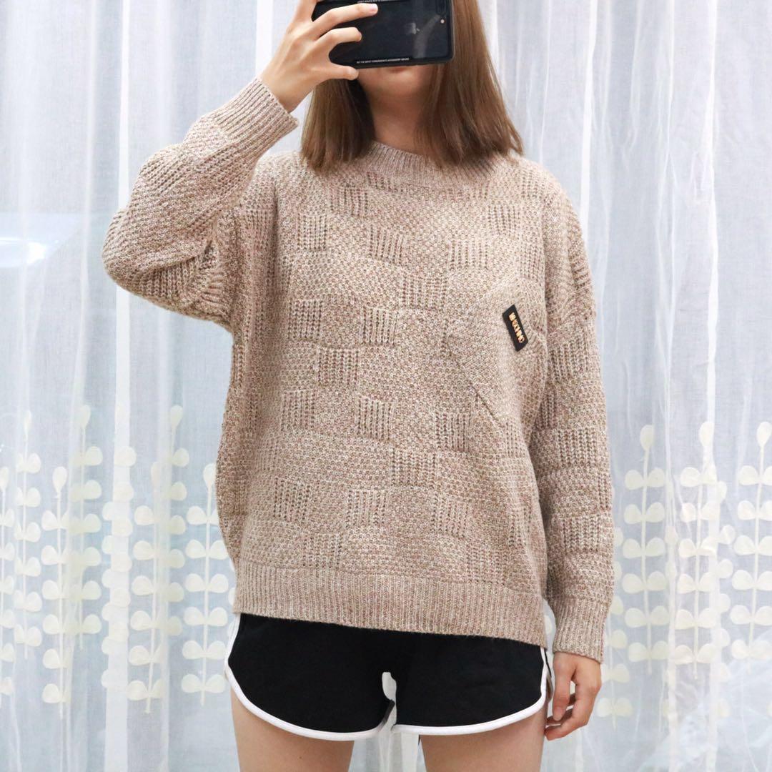 Женский свитер с косым карманом 44-48 (в расцветках)