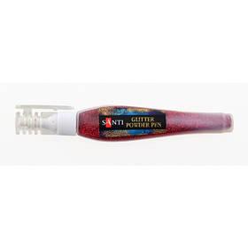 Ручка Santi с рассыпным глиттером, красный, 10г.