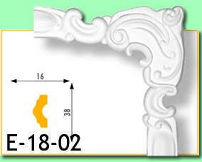 Кутовий елемент Е18-02 16х38мм 40см.