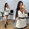 """Женский пиджак """"WORK"""" под пояс, костюмная подкладка :нейлон. Размер: С(42-44)М(44-46). Разные цвета. (327), фото 2"""