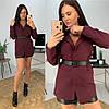"""Женский пиджак """"WORK"""" под пояс, костюмная подкладка :нейлон. Размер: С(42-44)М(44-46). Разные цвета. (327), фото 8"""