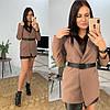 """Женский пиджак """"WORK"""" под пояс, костюмная подкладка :нейлон. Размер: С(42-44)М(44-46). Разные цвета. (327), фото 10"""
