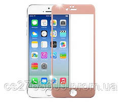 Защитное стекло / Захисне скло iPhone 6, Iphone 6S рожеве золото 4D