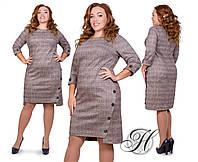Платье классическое, на каждый день, повседневное, с пуговицами, два цвета, р.54,56 код 2470М