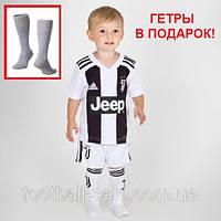Детская футбольная форма ЮВЕНТУС №7 Роналдо + гетры в  подарок, фото 1