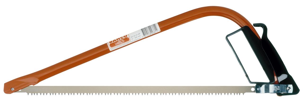 Лучковая пила 530мм, универсальная, с полотном для сухой и сырой древесины, BAHCO 331-21-51-KP