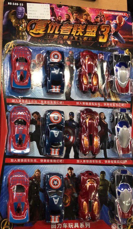 Набор машинок Мстители 12 шт. | Игровой набор машинок Avengers