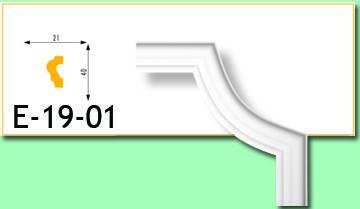 Кутовий елемент Е19-01 21х40мм 40см.