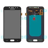 Дисплейный модуль (дисплей и сенсор) для Samsung J250 Galaxy J2 (2018), J250 Galaxy J2 Pro (2018), черный, оригинал