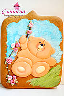 """Детский  медовый имбирный пряник """"Медвежёнок"""""""