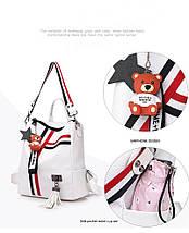 Жіноча сумка рюкзак JIAOO біла, фото 3