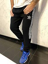 Спортивные штаны Adidas на флисе с манжетом черный