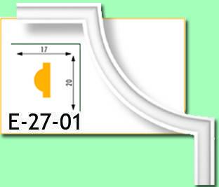 Кутовий елемент Е27-01 17х20мм 35см.