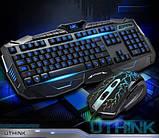 Игровой комплект клавиатура и мышь V100 (с подсветкой), фото 5