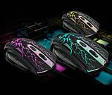 Игровой комплект клавиатура и мышь V100 (с подсветкой), фото 3